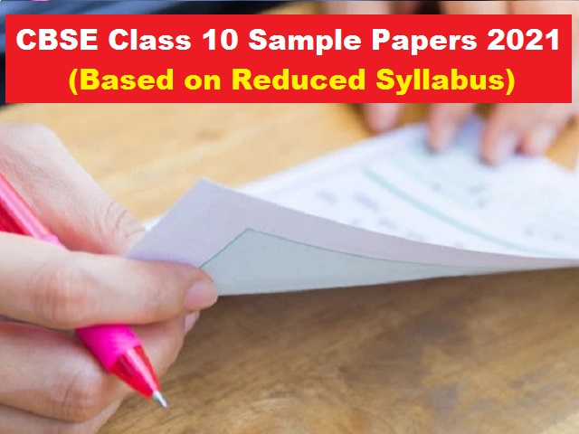 cbse class10 sample%20 papers 2021