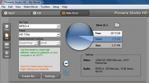 convert AVCHD MTS file for upload to YouTube