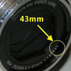 Finding Camcorder Lens Ring Size
