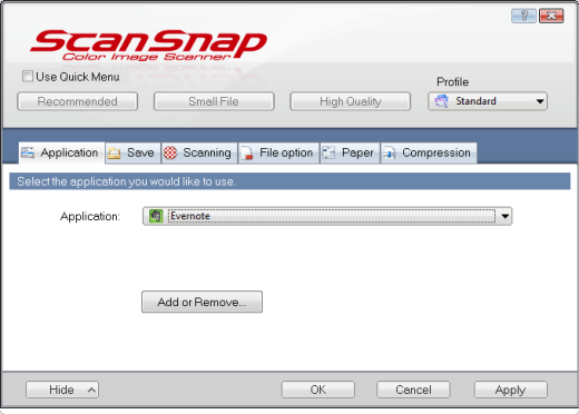 Evernote and ScanSnap