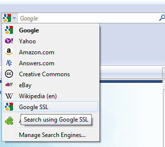 Google SSL secure search