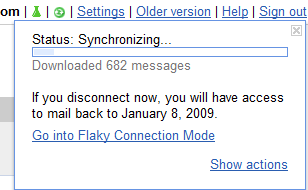 gmail offline sync