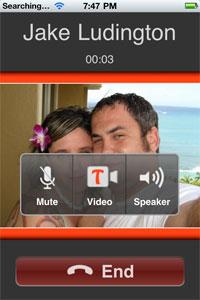 iPhone video calls