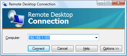 Remote Desktop connect screen