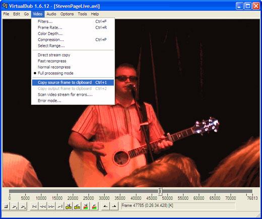 Export clip from virtualdub