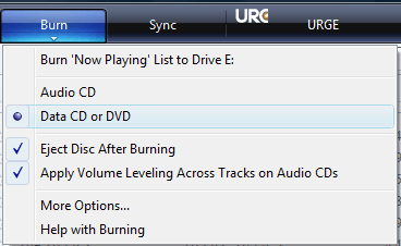 Burn a WMA CD with Windows Media Player 11