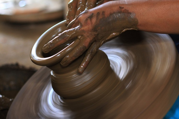 Klaten's unique pottery technique spins on