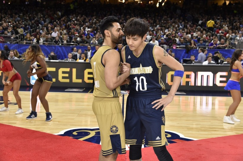 Bieber Wu Team Up For Nba All Star Celebrity Game Entertainment. Kris Made  His 3rd Entrance At The 2018 ... bc8914cf1