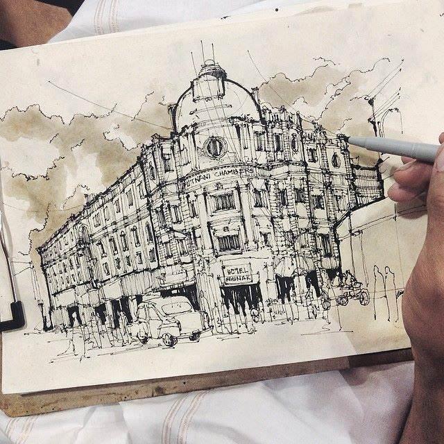 012建築設計師手稿作品