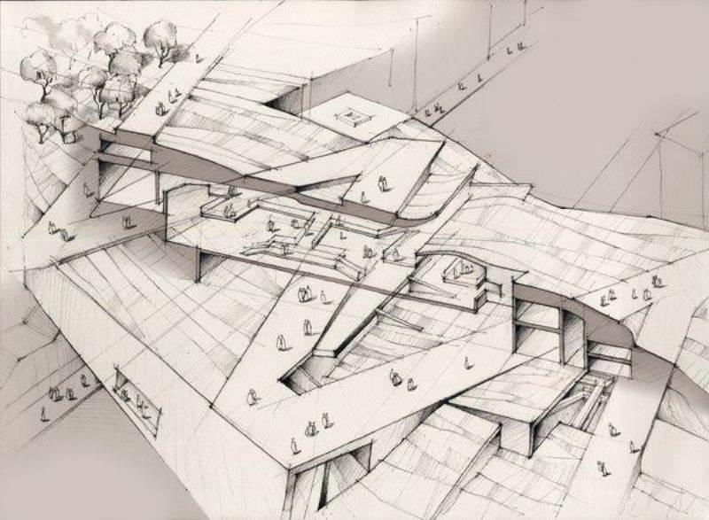 018建築設計師手稿作品