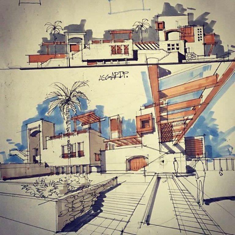 030建築設計師手稿作品