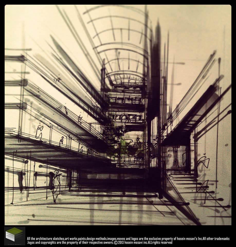 055建築設計師手稿作品