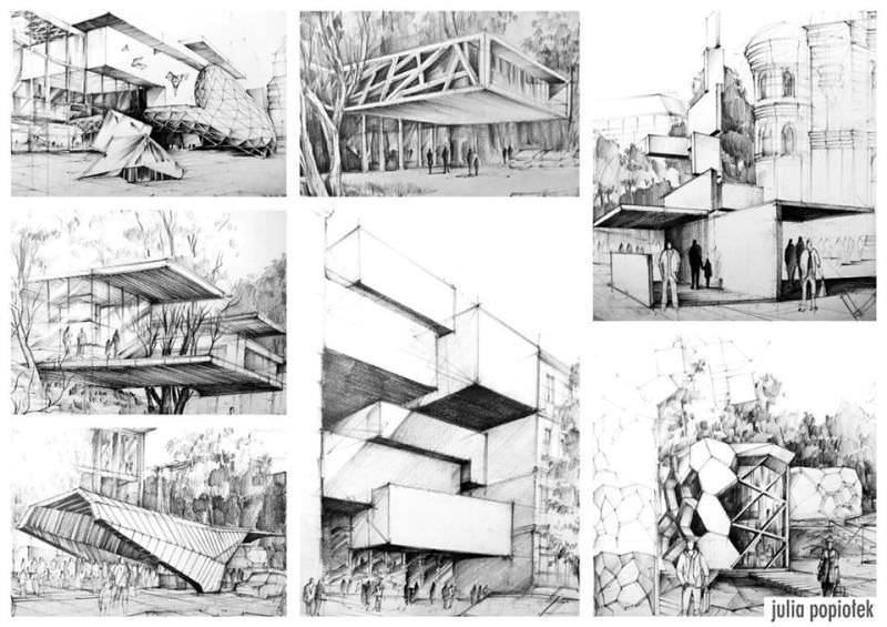 083建築設計師手稿作品