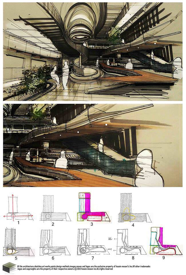 091建築設計師手稿作品