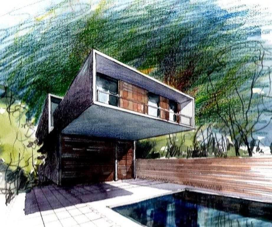 107建築設計師手稿作品