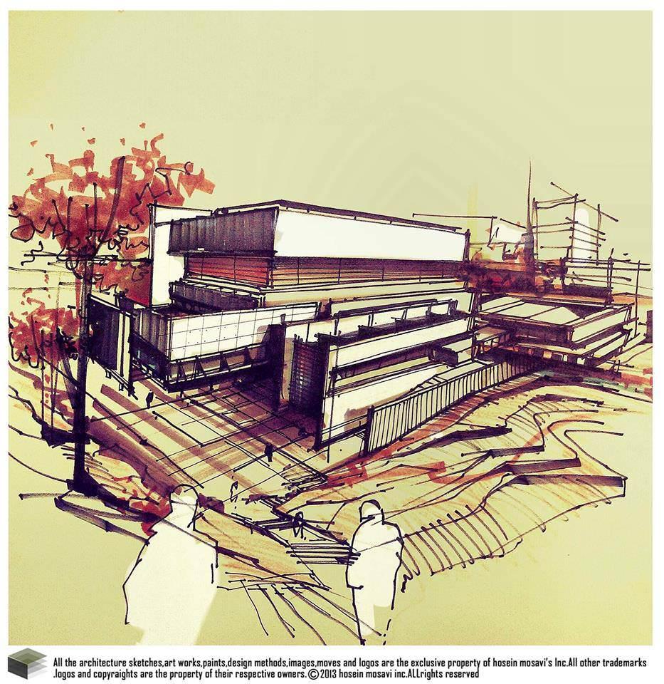 122建築設計師手稿作品