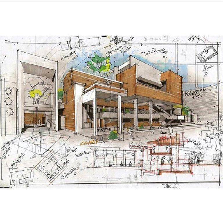 125建築設計師手稿作品