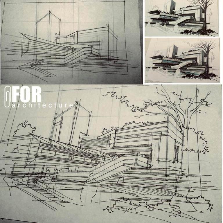 163建築設計師手稿作品