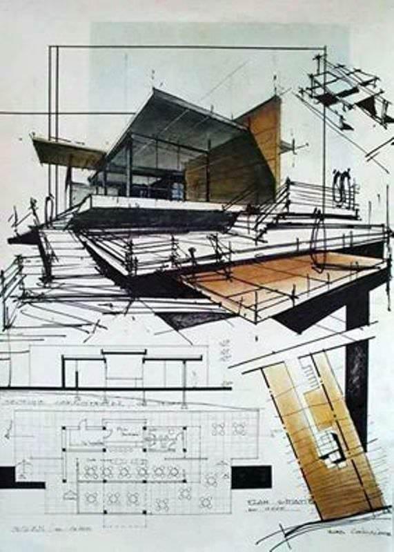 169建築設計師手稿作品