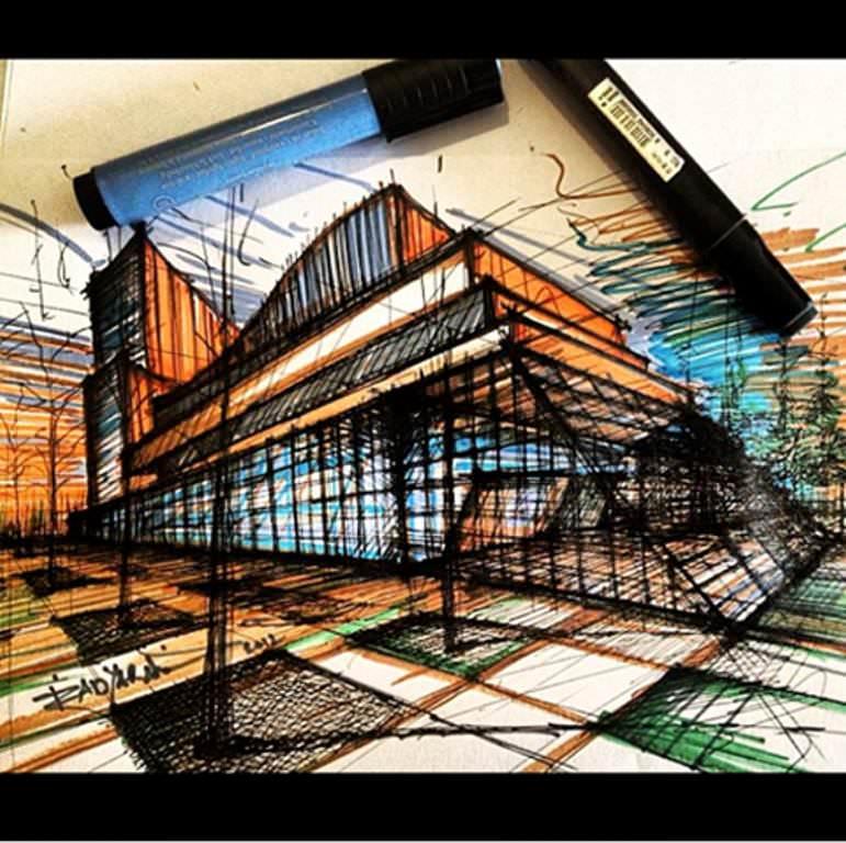 174建築設計師手稿作品