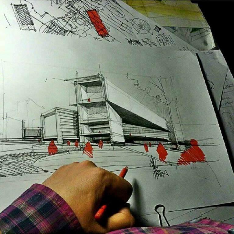 190建築設計師手稿作品