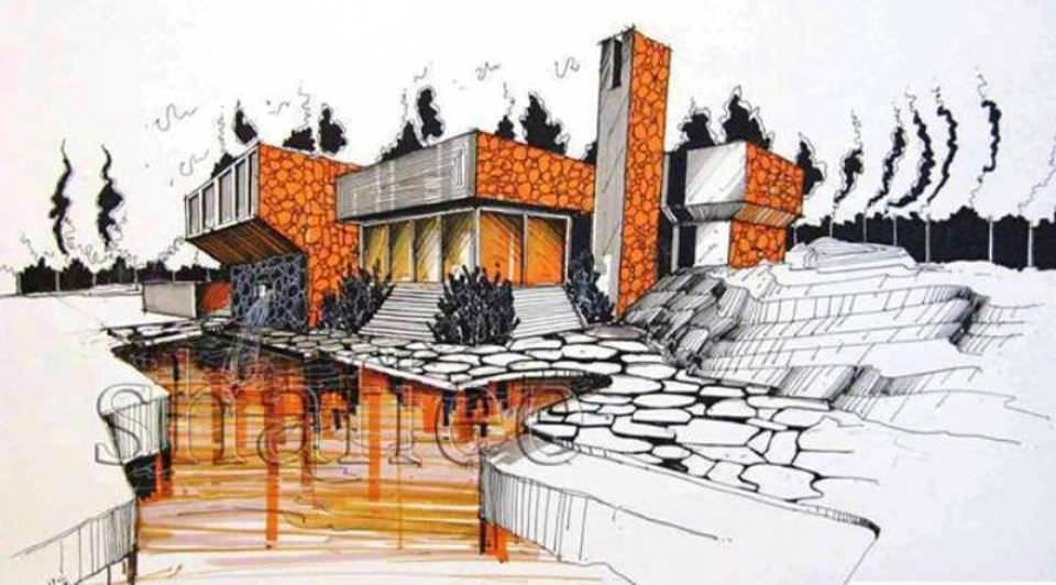 195建築設計師手稿作品