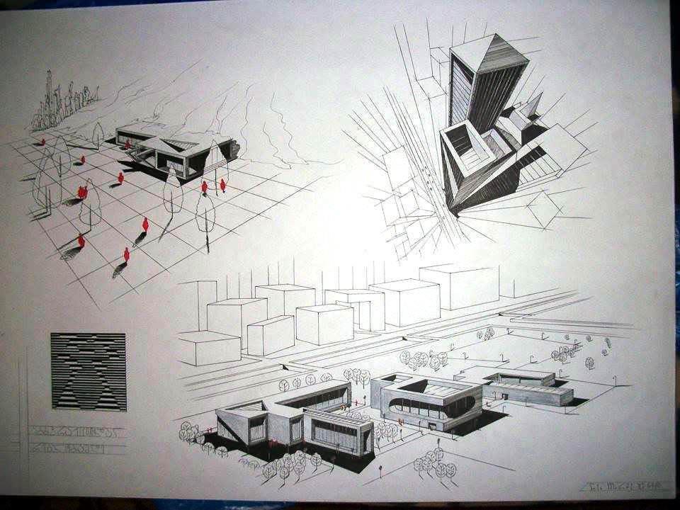 213建築設計師手稿作品