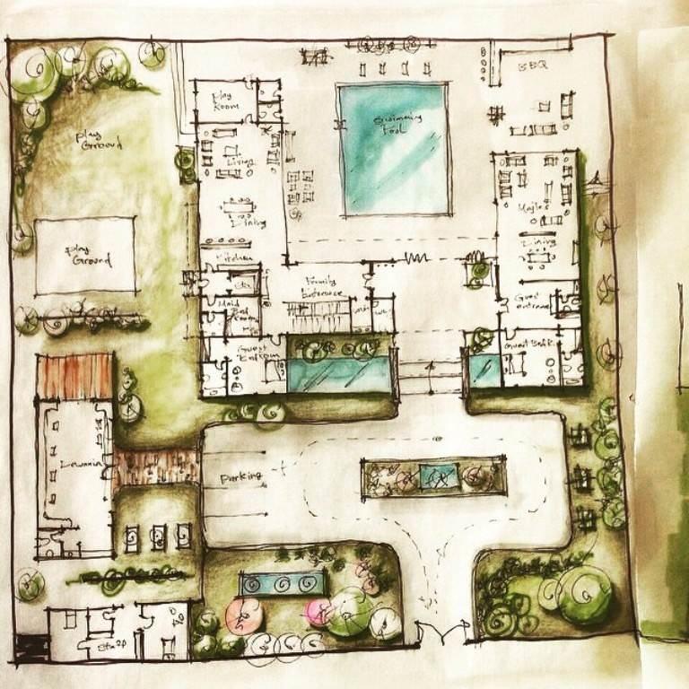 216建築設計師手稿作品