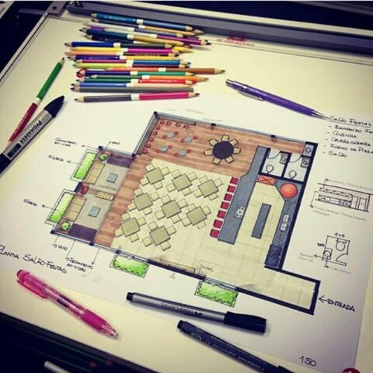 223建築設計師手稿作品
