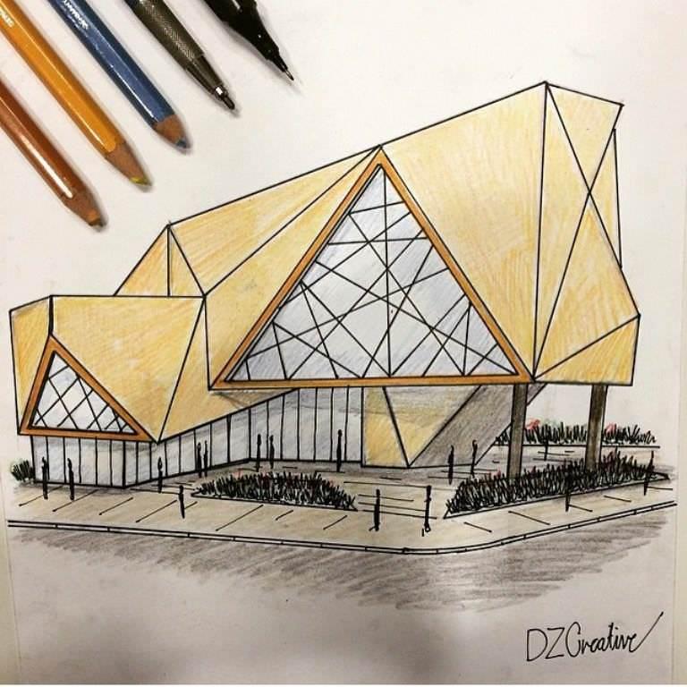 224建築設計師手稿作品