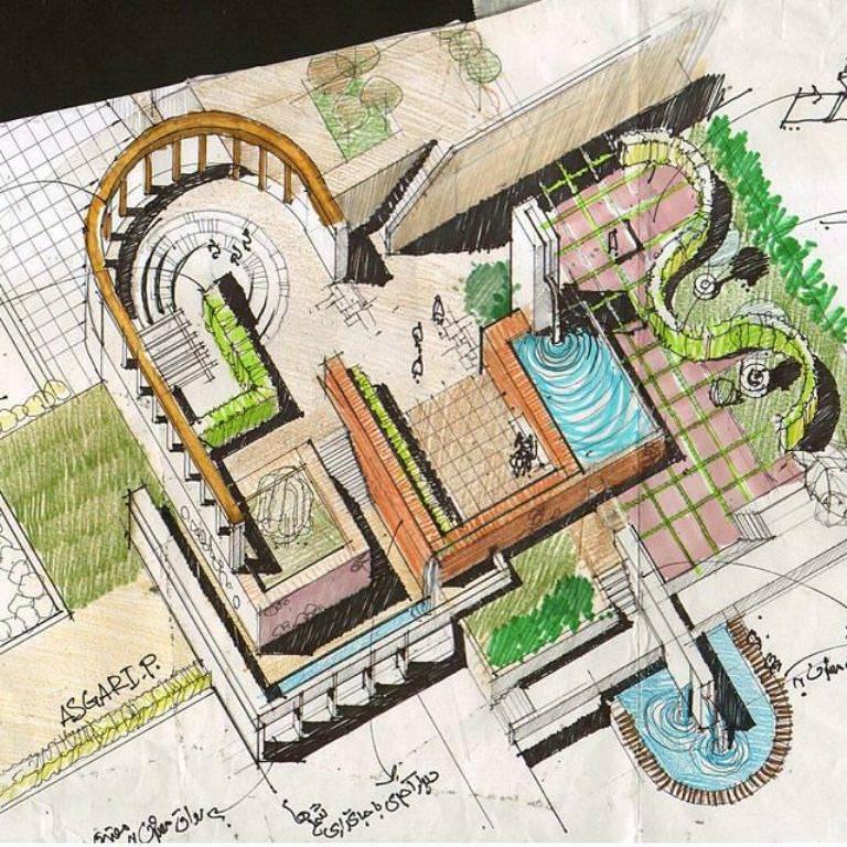 249建築設計師手稿作品