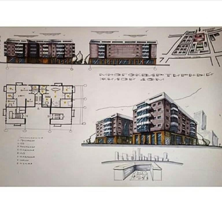 266建築設計師手稿作品