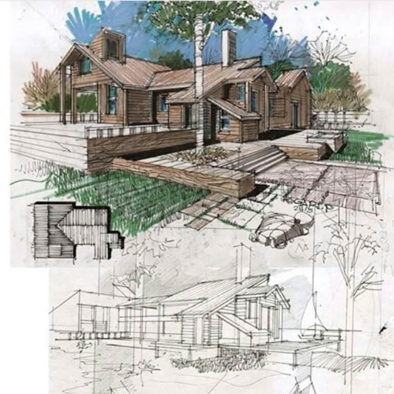 268建築設計師手稿作品