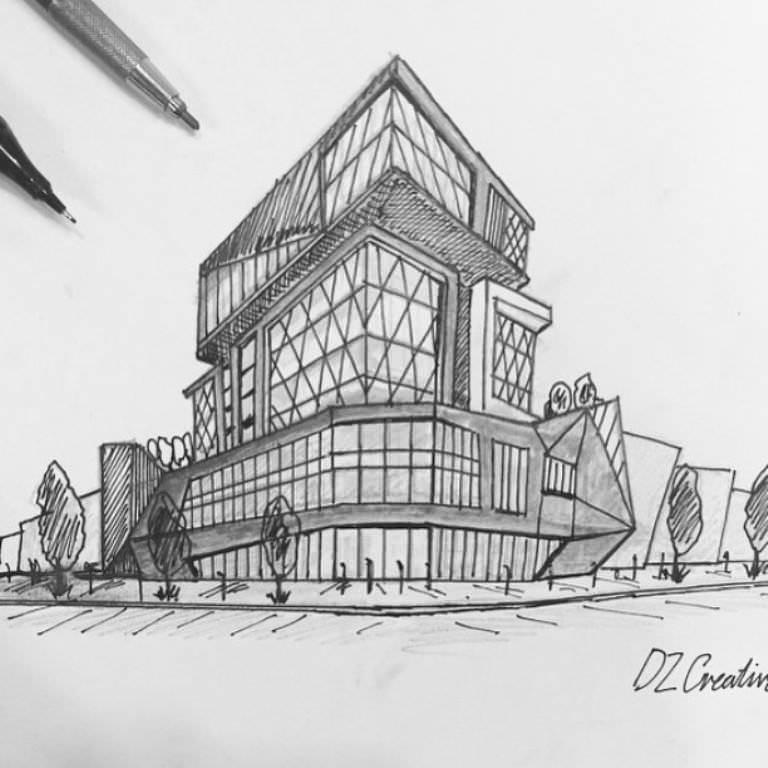 283建築設計師手稿作品