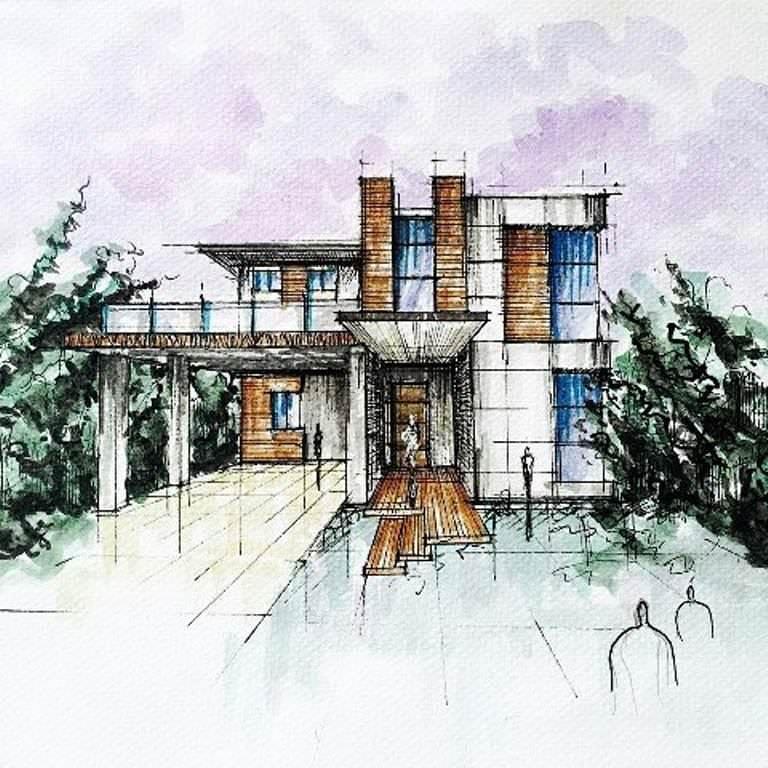288建築設計師手稿作品
