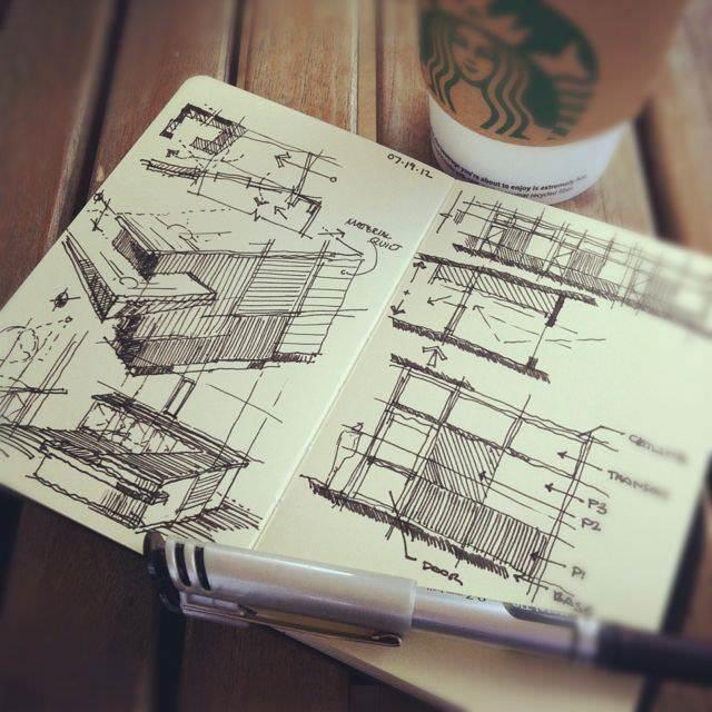 308建築設計師手稿作品
