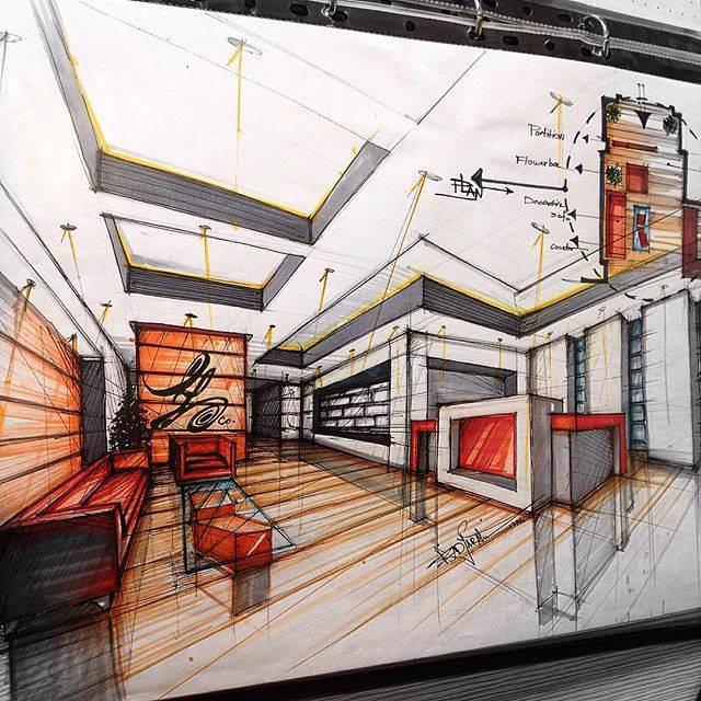 309建築設計師手稿作品