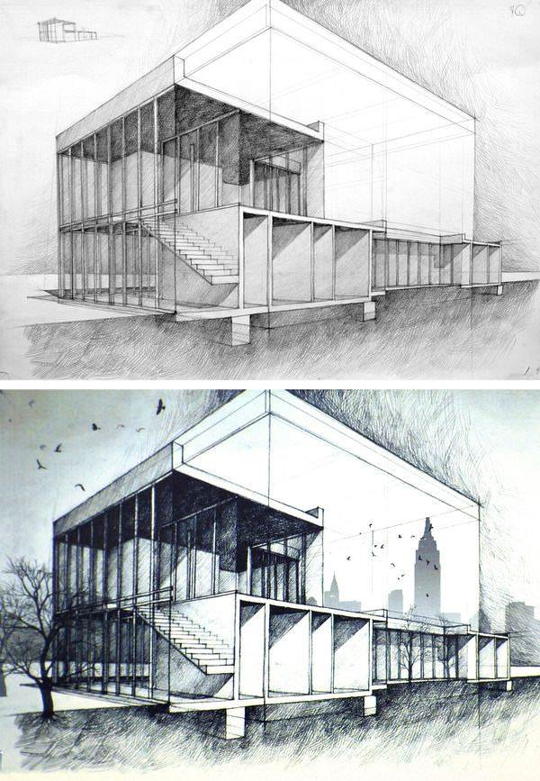 310建築設計師手稿作品