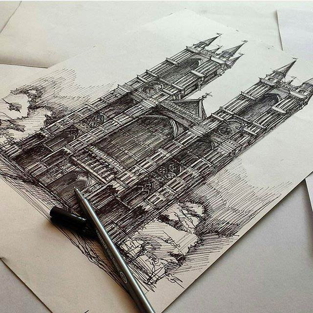 312建築設計師手稿作品