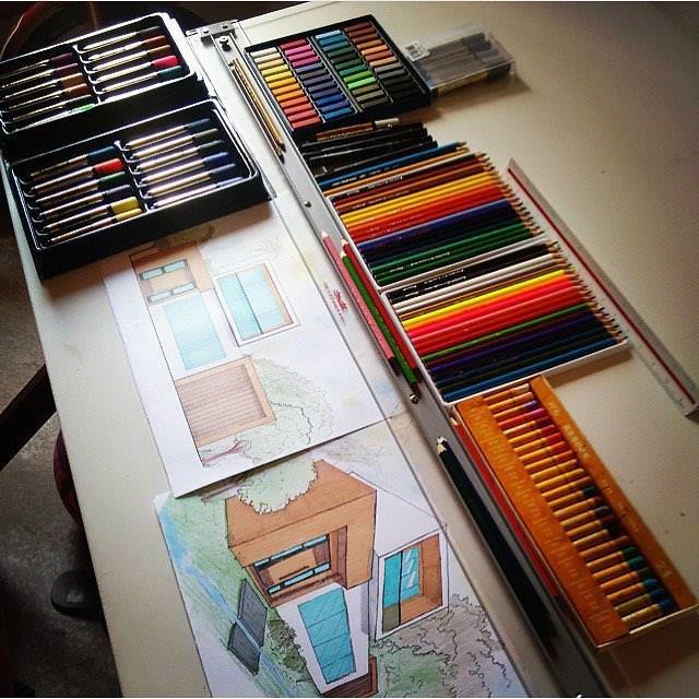 314建築設計師手稿作品