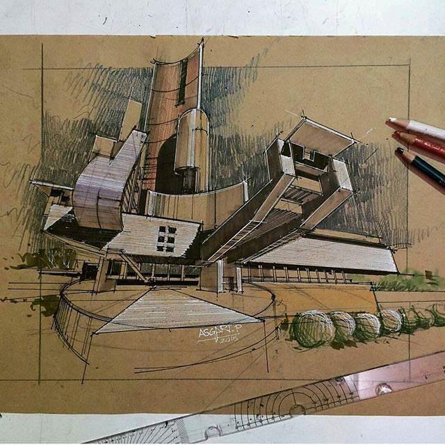 324建築設計師手稿作品
