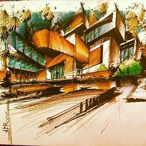 336建築設計師手稿作品
