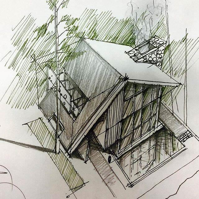 340建築設計師手稿作品