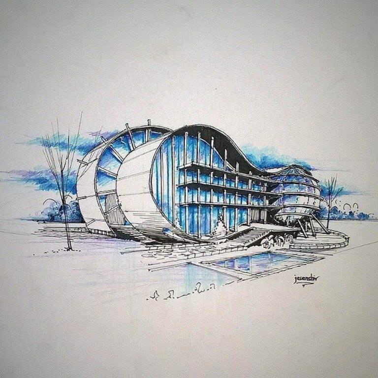 353建築設計師手稿作品