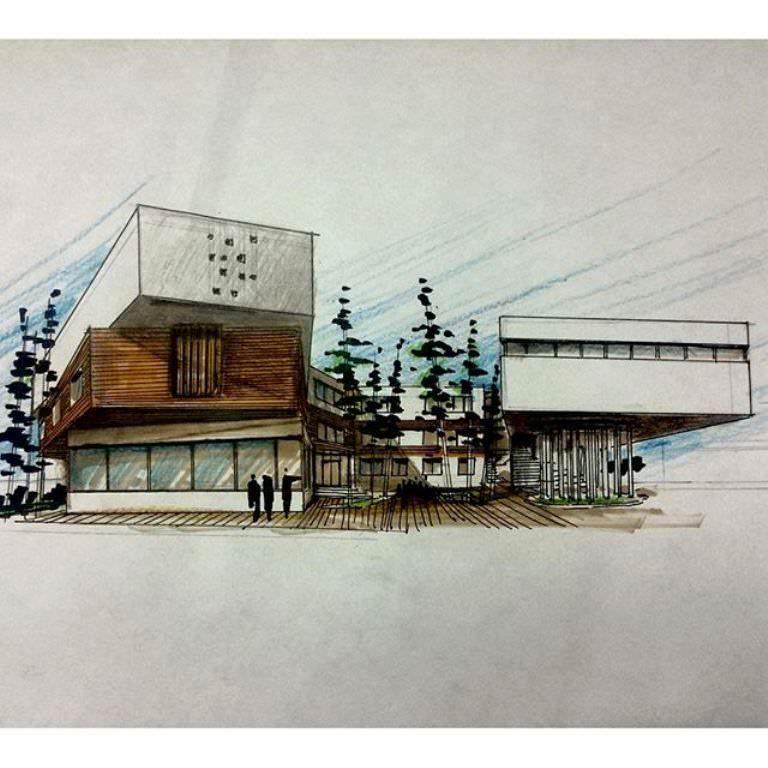 360建築設計師手稿作品
