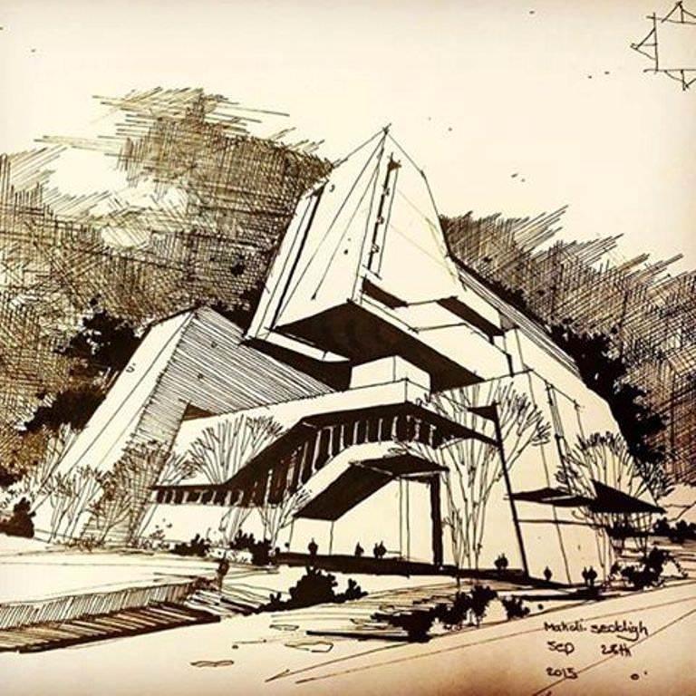 366建築設計師手稿作品