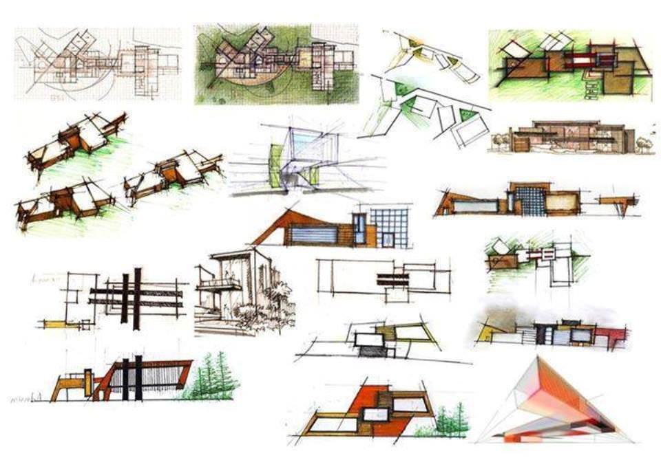 370建築設計師手稿作品