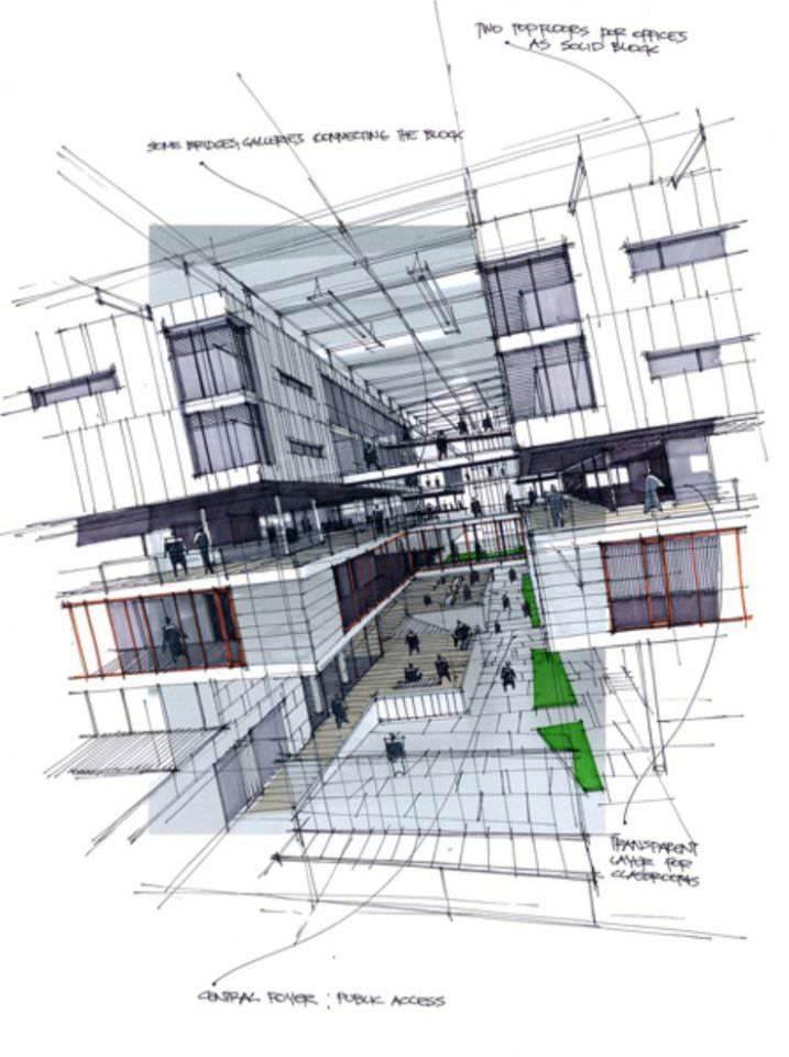 375建築設計師手稿作品