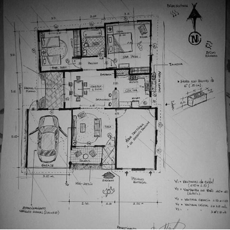 380建築設計師手稿作品