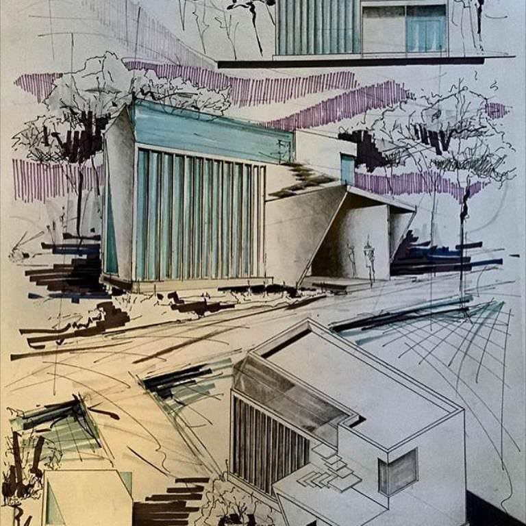 394建築設計師手稿作品